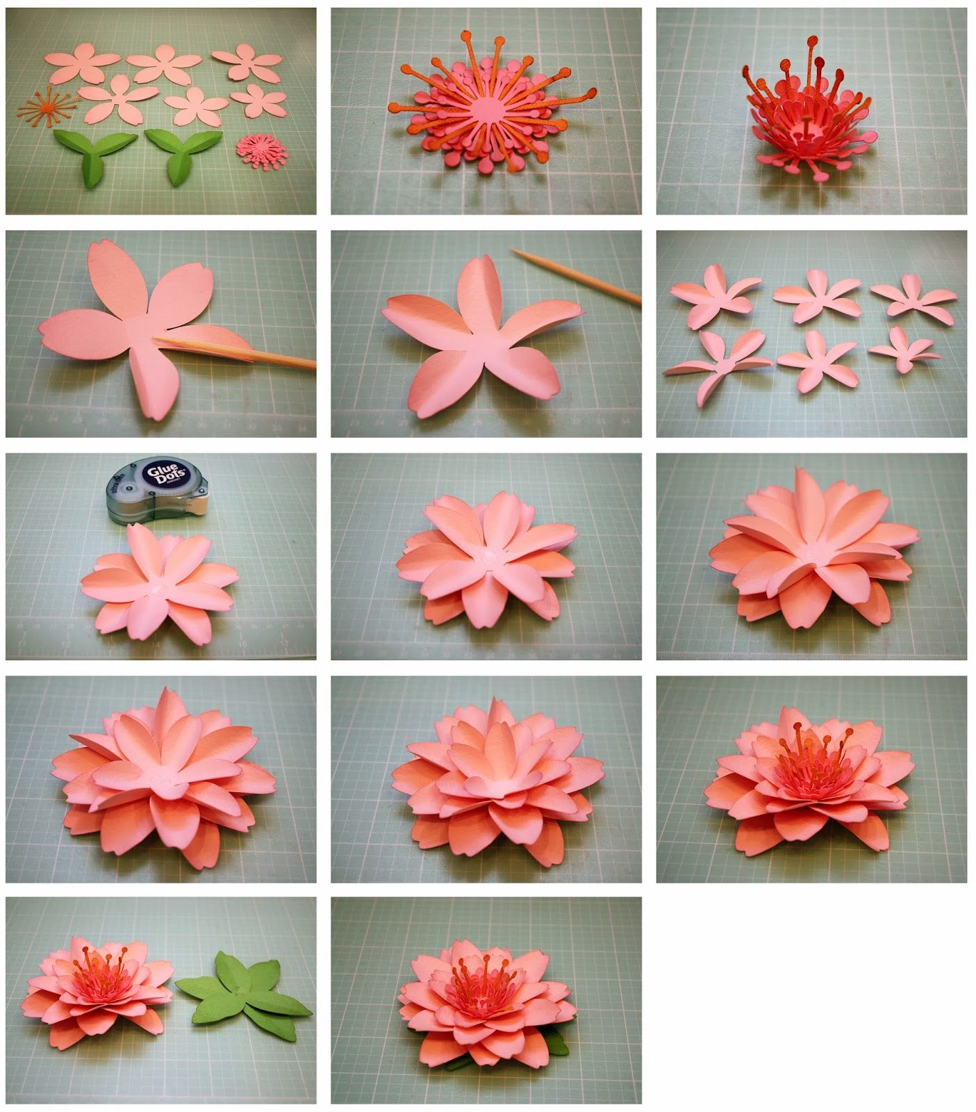 How To Make Handmade Flowers From Paper Bits Of Paper Daffodil And Cherry Blossom 3d Paper