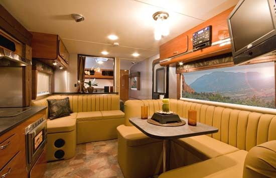 Earthbound travel trailer interior