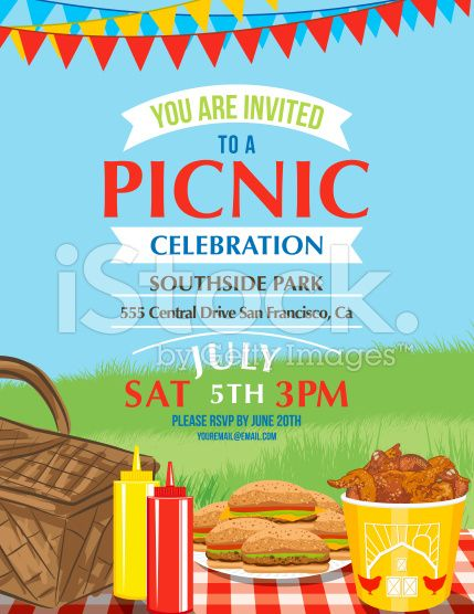 Summer picnic and BBQ invitation flyer or template Text is on its - flyer invitation templates free