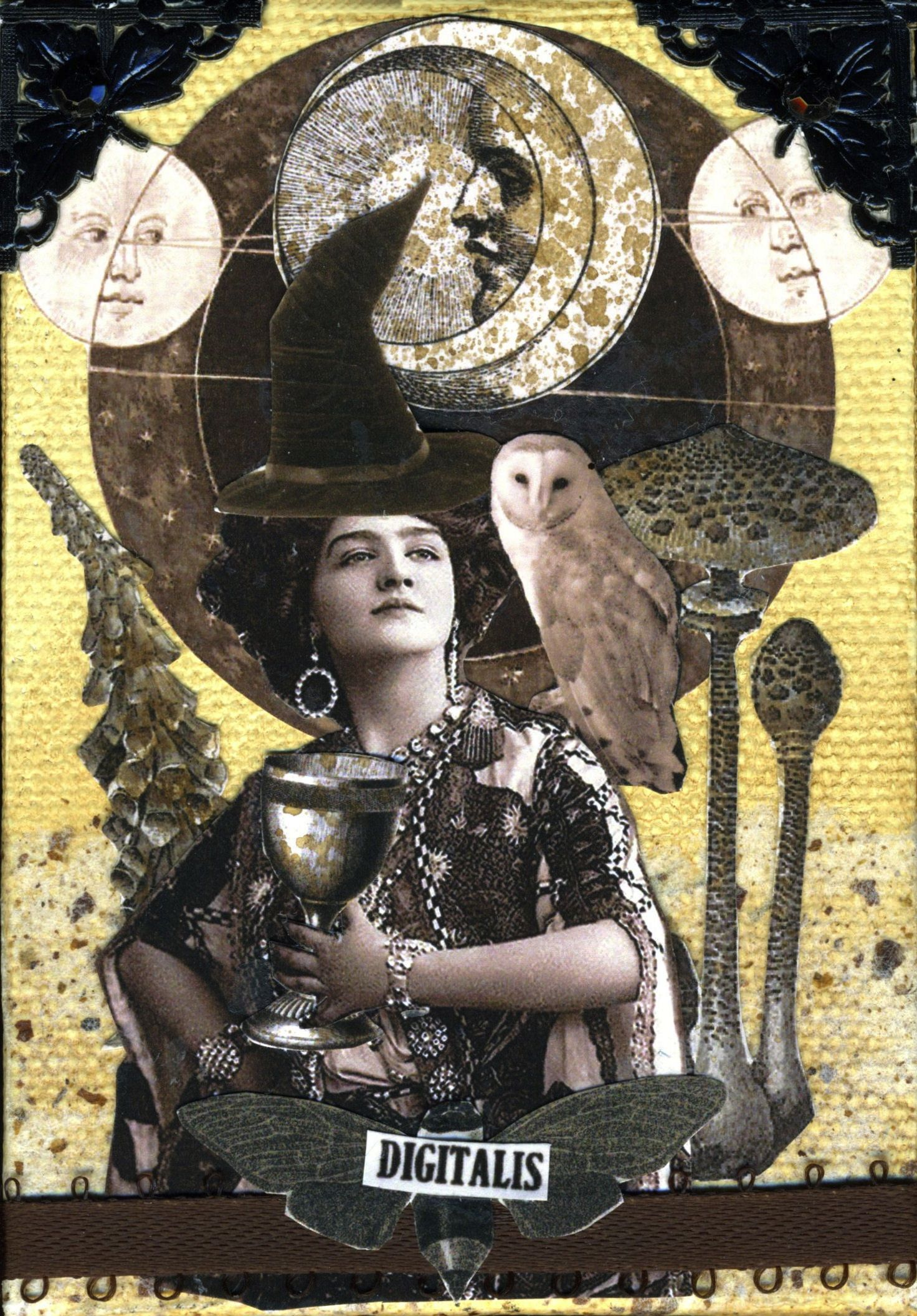 Art Nouveau Costume Inspirational Witch Collage With Art Nouveau Flare