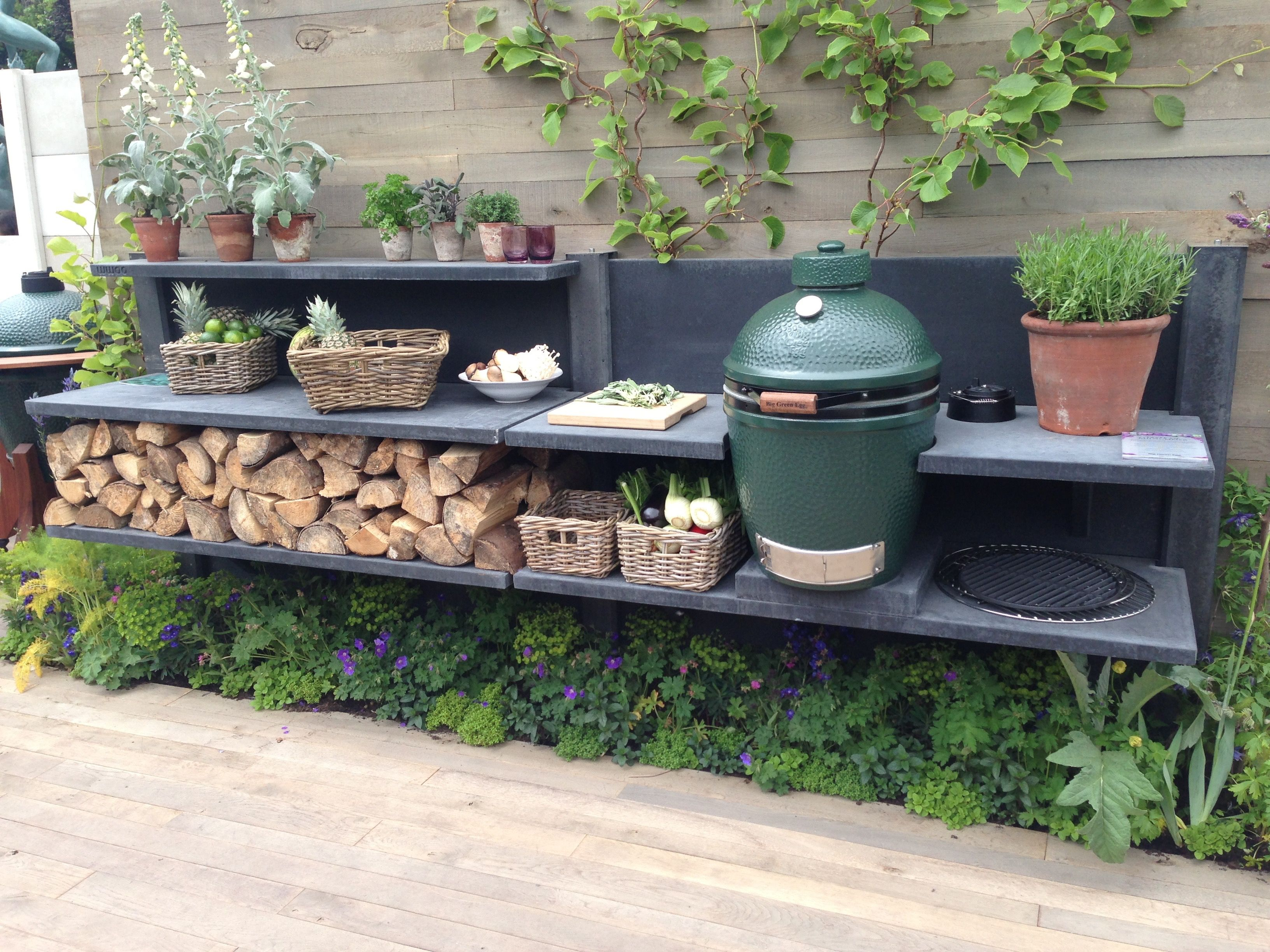 Outdoor Küche Green Egg Anthracite Wwoo Kitchen In The Big Green Egg Stand At The