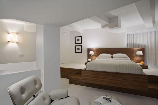 schlafzimmer ideen designer einrichten holz rahmen bett weiß - schlafzimmer einrichten holz