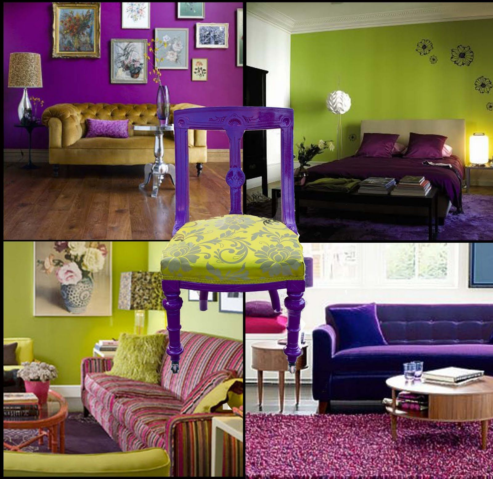 Lime Green Living Room Decor Very Cool Lime Green Purple Room Ideas Crafty