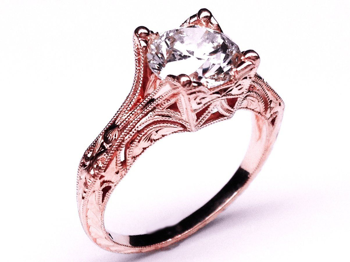 wedding rings rose gold wedding rings best images about Wedding Rings on Pinterest Rose gold Two tone engagement rings and Rose gold rings