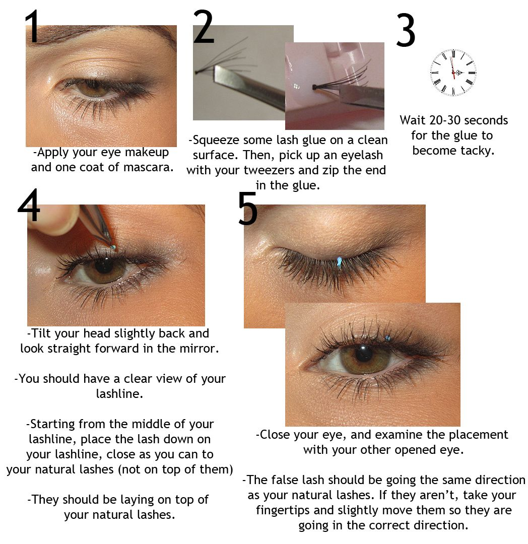 Diy Eyelash Extensions Step By Step How To Apply Individual Flare Lashes Give