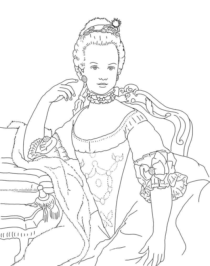 Marie Antoinette Coloring Pages Yahoo Image Search