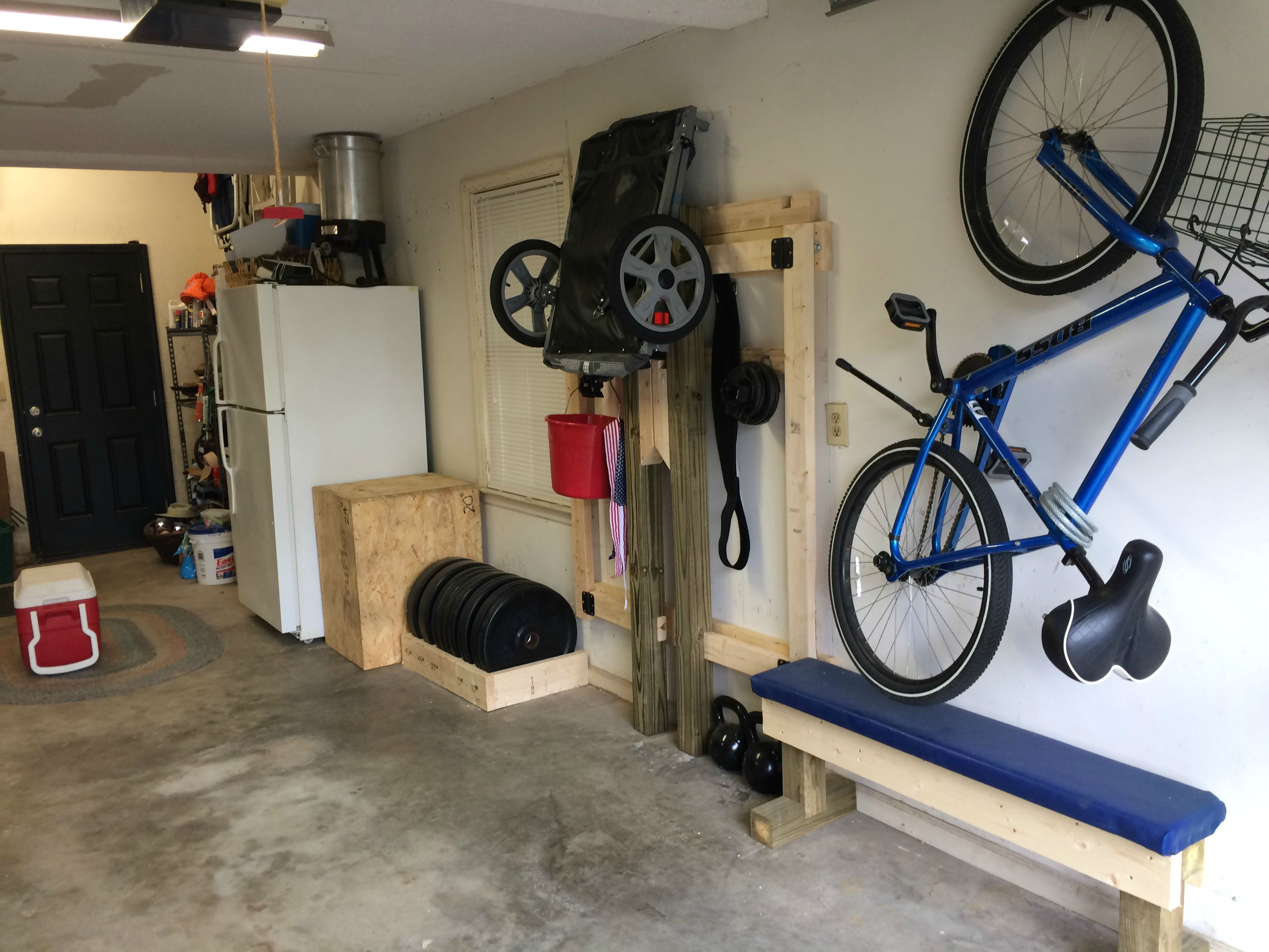 Diy Garage Gym Equipment Diy Folding Squat Rack Squat Gym And Exercises
