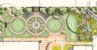 deck and backyard landscape drawing | design drawing of ...