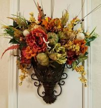 Elegant Fall Sconce, Floral Wall Sconce, Thanksgiving