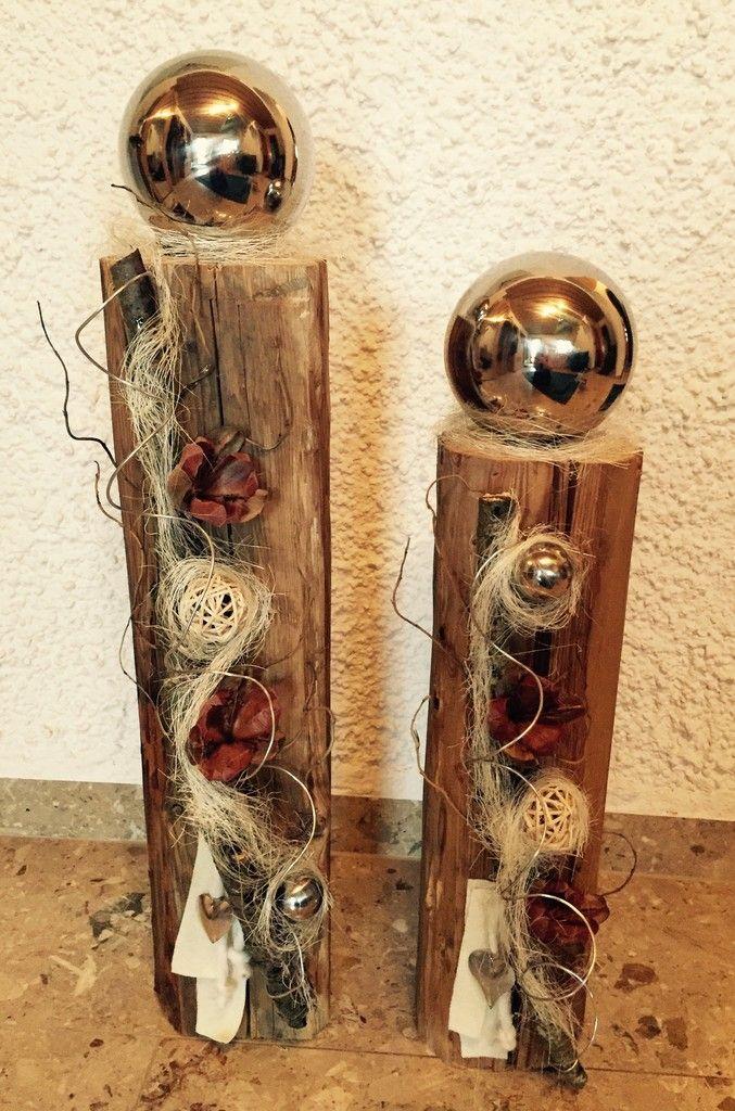 Edel Dekorierter Holzbalken Handarbeiten Pinterest