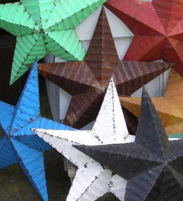 Vintage Metall Deko Stern - Amish Barn Star - grün Barn, Star - deko tapete grun