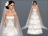 Bridal long veil and hair flowers for wedding, Sims 3 free ...