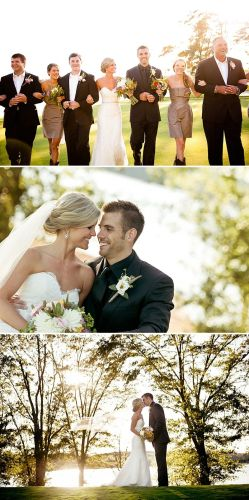 october wedding dresses Lace wedding dress and black suit outdoor October wedding