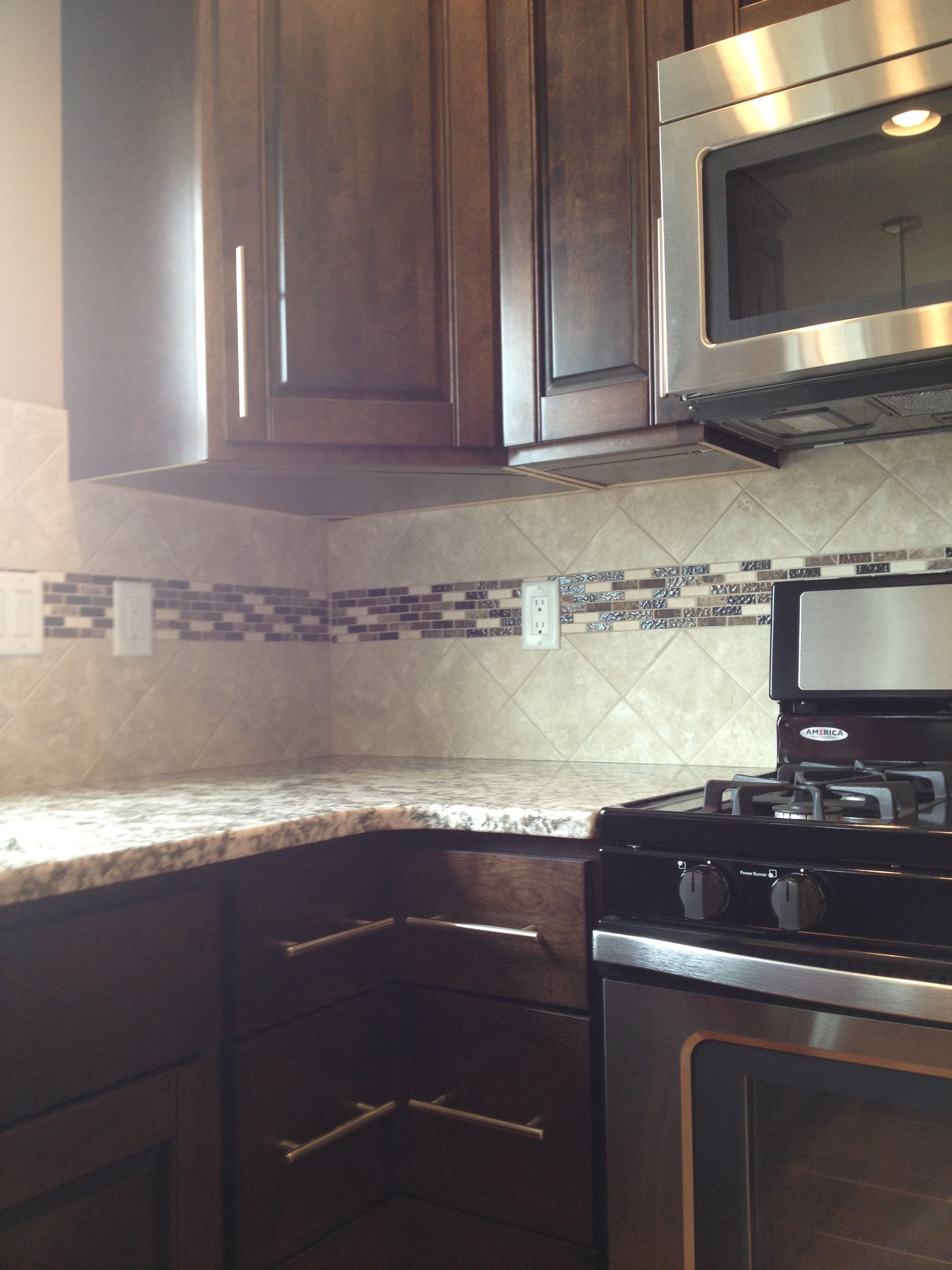 Backsplash Accent Ideas Kitchen Backsplash With Accent Strip Design By Dennis