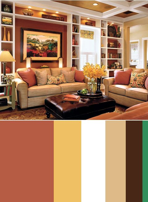 I like this red and yellow color For the Home Pinterest - cozy living room colors