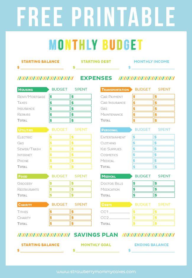 FREE Printable Budget Sheet Printable budget sheets, Budget - free printable budget planner