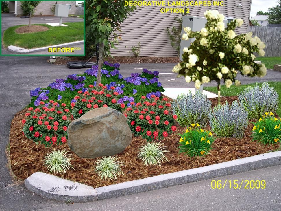 landscaping ideas for driveway entrance