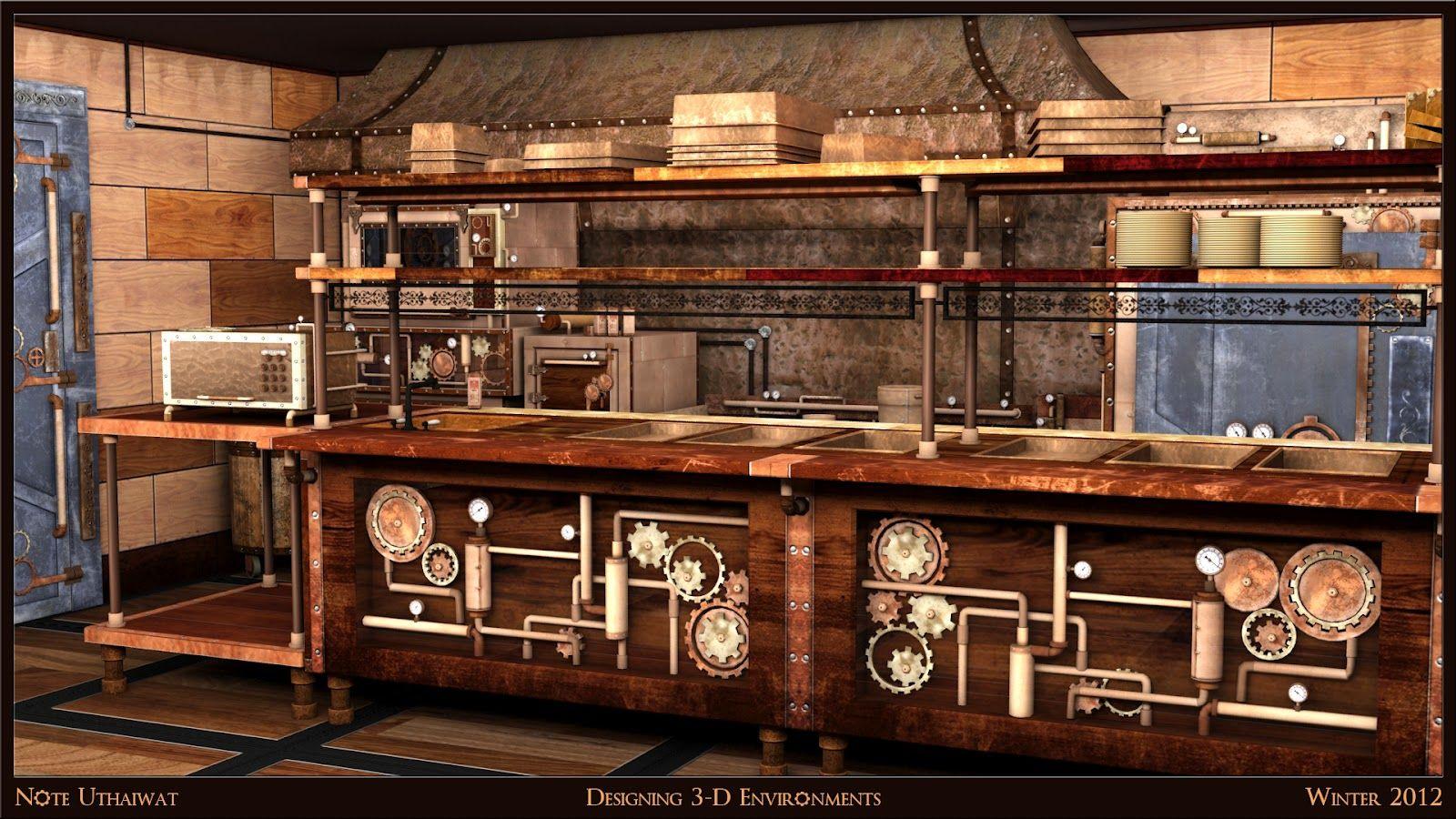 steampunk kitchen design steampunk furniture steampunk kitchen design kitchen designs steam punk google search