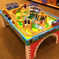 this Thomas the Train table top would look better at home ...