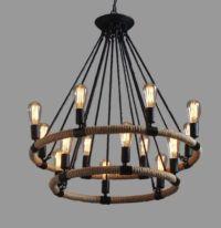 Large Industrial Farmhouse Ceiling Lamp Chandelier ...