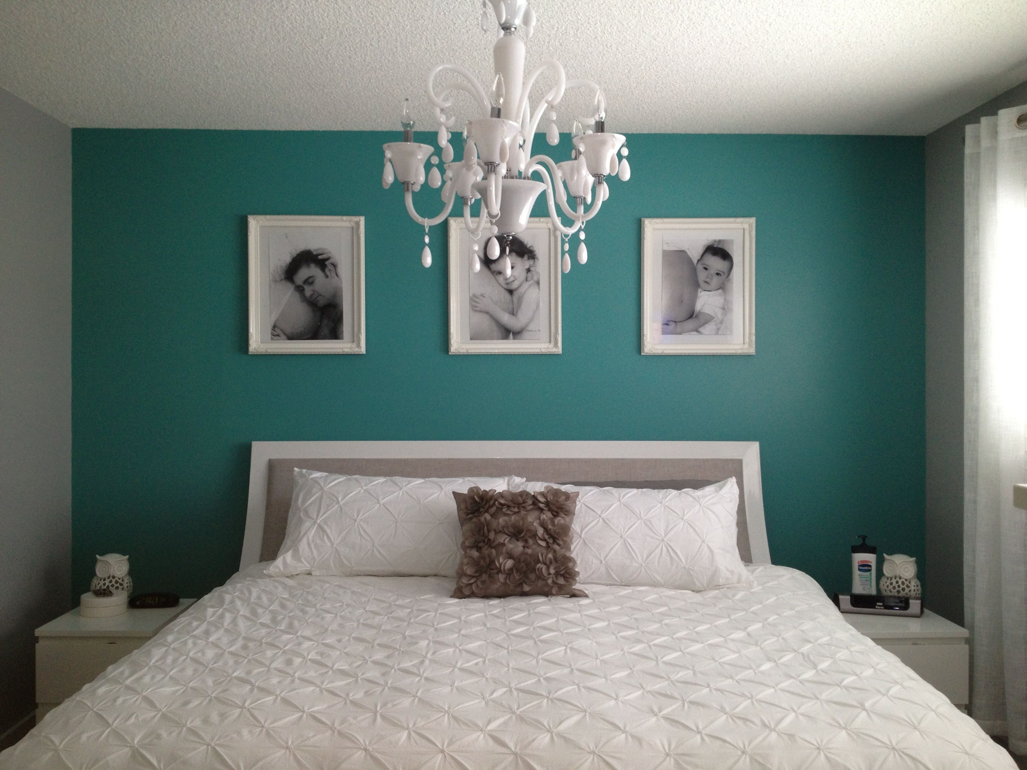 Slaapkamer Kleuren Muur Best 25 43 Teal Bedrooms Ideas On Pinterest Teal Wall