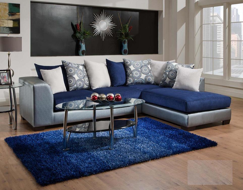 835 06 Royal Blue Living Room Only