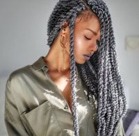 Grey twists l Black hair   BRAIDS, LOCS, & TWISTS ...