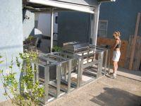 Resplendent Outdoor Kitchen Frame Plans With Minimalist ...