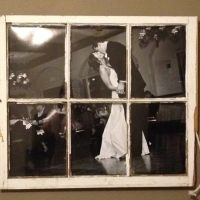 Old, wood window repurposed as frame for a Wedding Photo ...