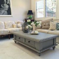 Pine coffee table makeover #PAINT #ASCP #FRENCHLINEN ...