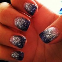 Navy Blue And Silver Nail Ideas  Cute Nail Ideas | Prom ...
