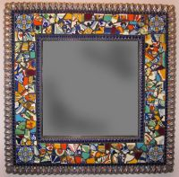 Mexican tile mosaic mirror by Emily Hickman made with ...