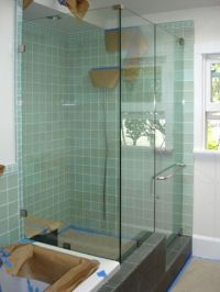 Tile showers with glass doors | Home | Pinterest | Glass ...
