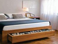 bed frame with storage underneath | interior | Pinterest ...