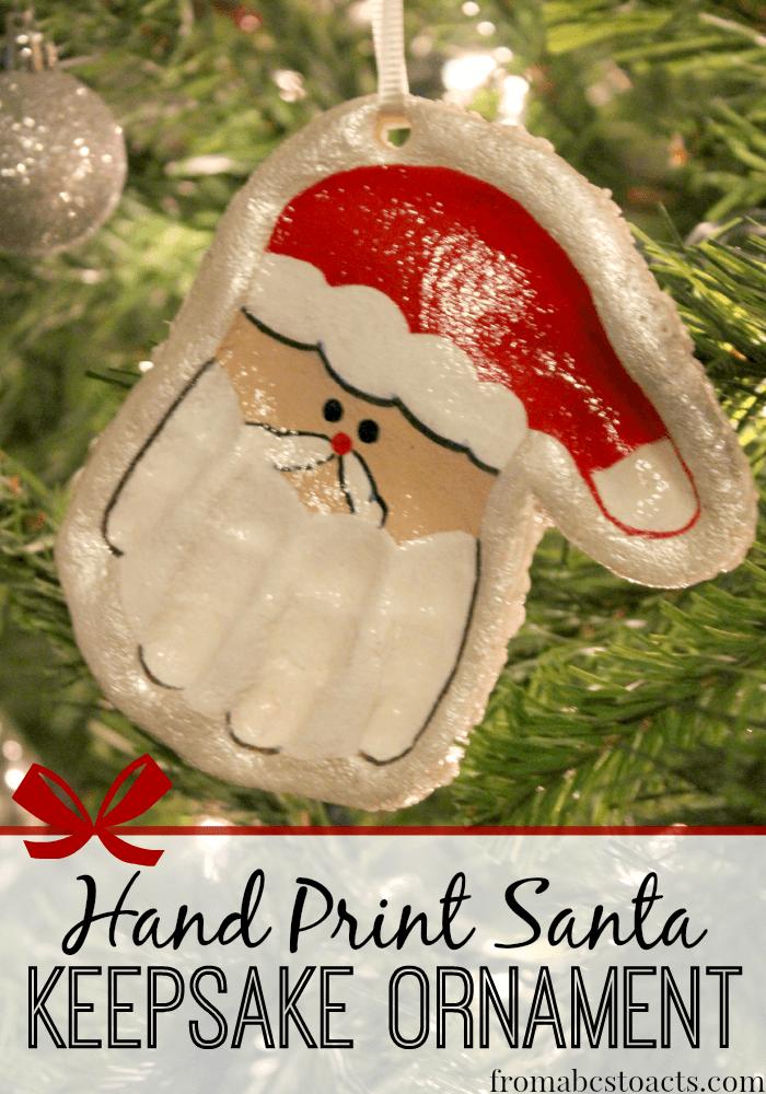 how to make homemade handprint ornaments