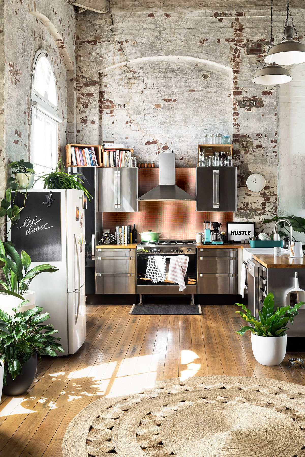 Apartments With Exposed Brick Gravity Home Kitchen With Exposed Brick In A Warehouse