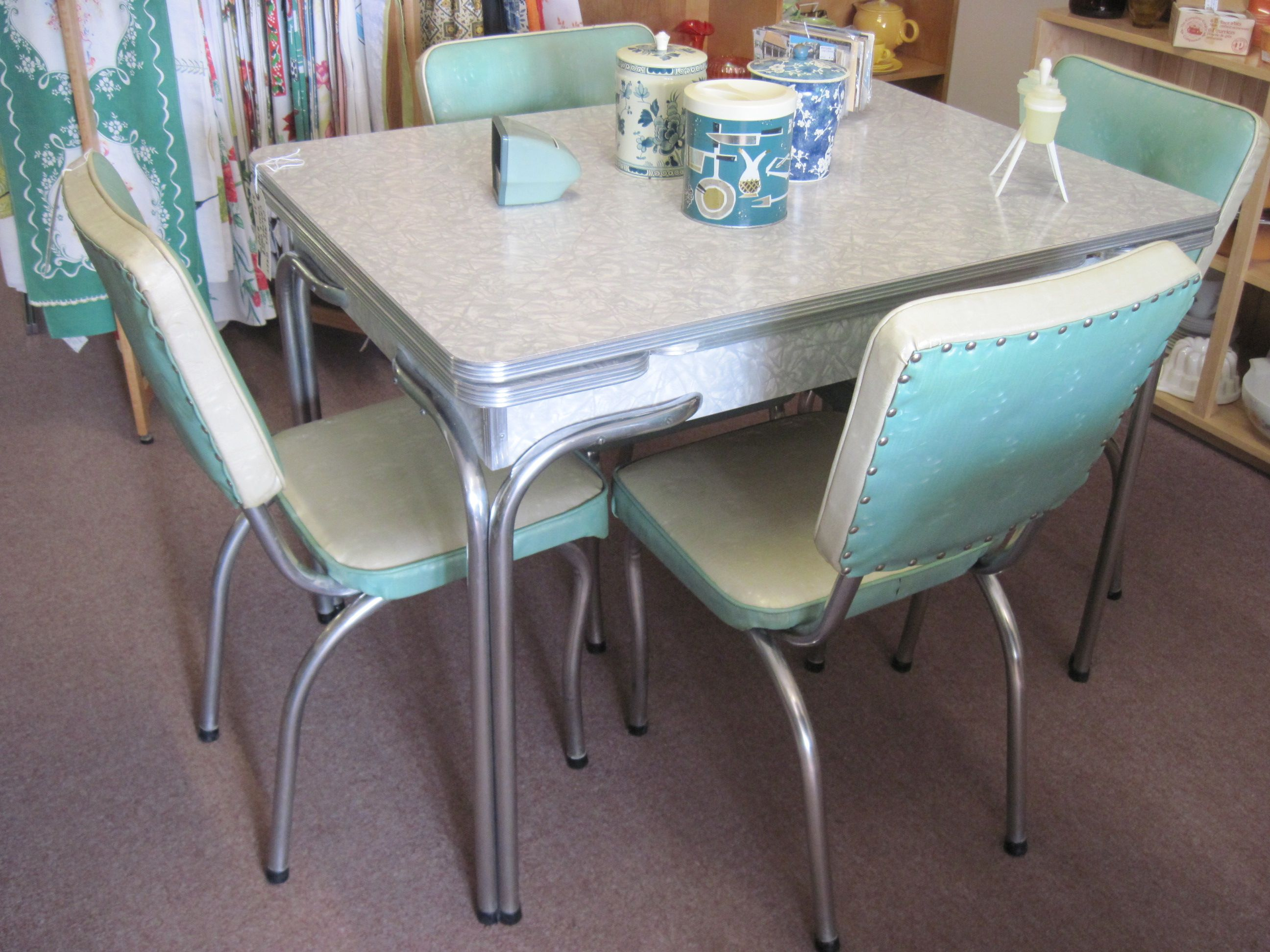 kitchen tables vintage kitchen tables Popular Cheap Vintage Dining Room Set New Interior Design Concept Retro Sets Antique With White Table And Chairs Also Soft Blue Backrest With Glass Dining