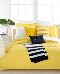Lacoste Solid Lemon Drop Brushed Twill Comforter and Duvet ...