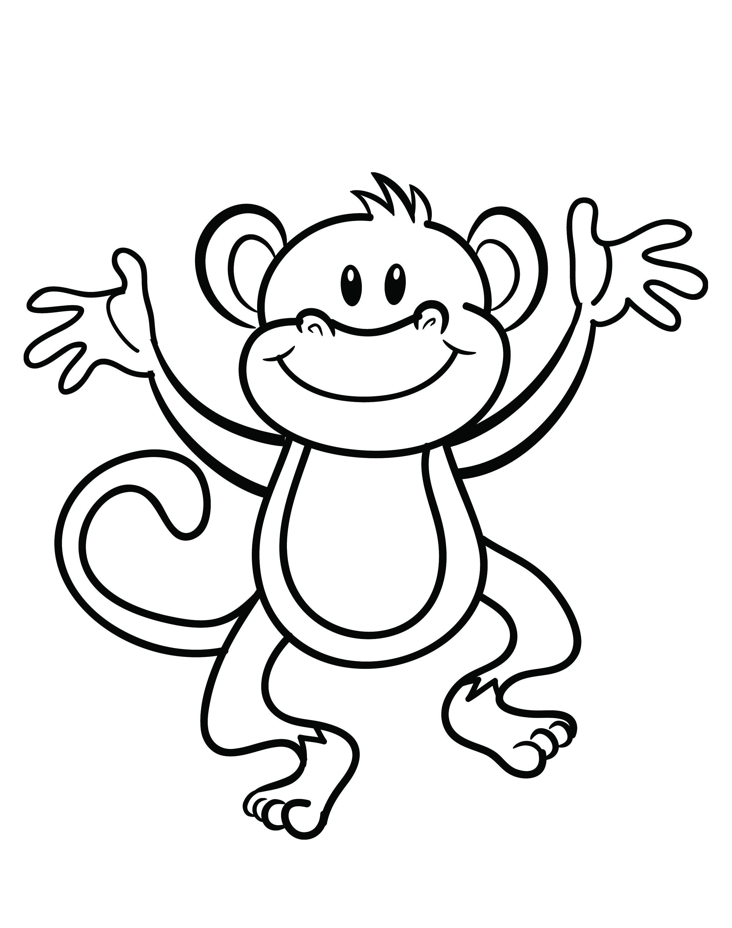 mo monkey coloring page to print