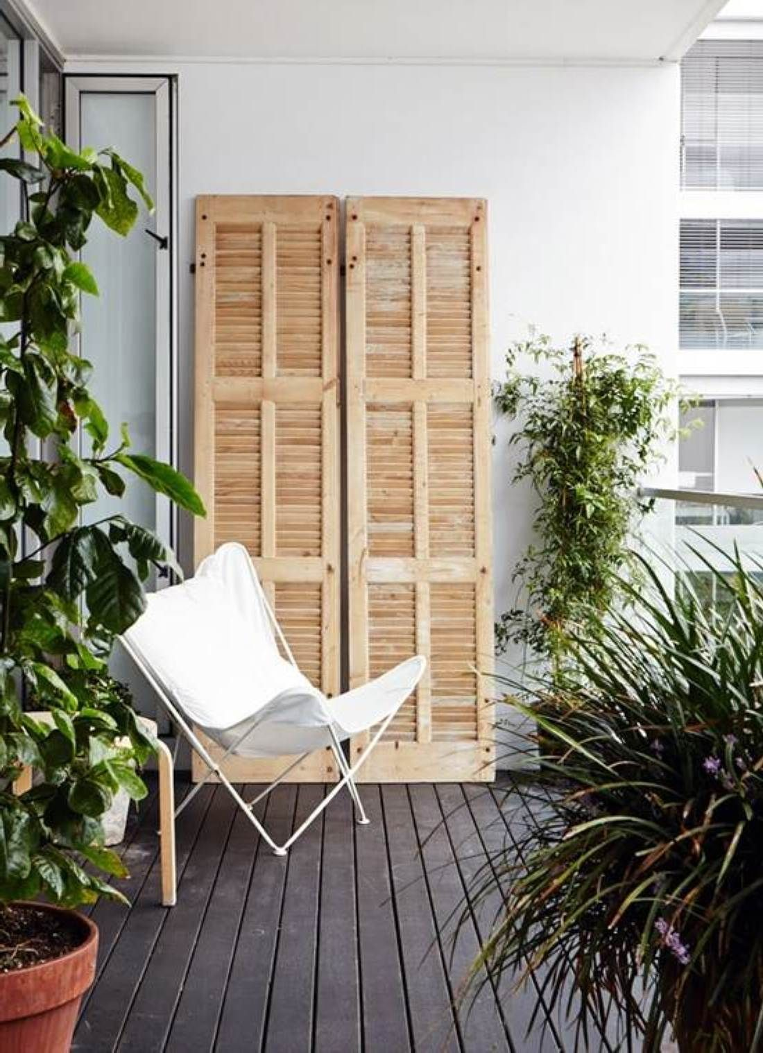 Find this pin and more on balkonien smart ideas for decorating tiny balcony apartment