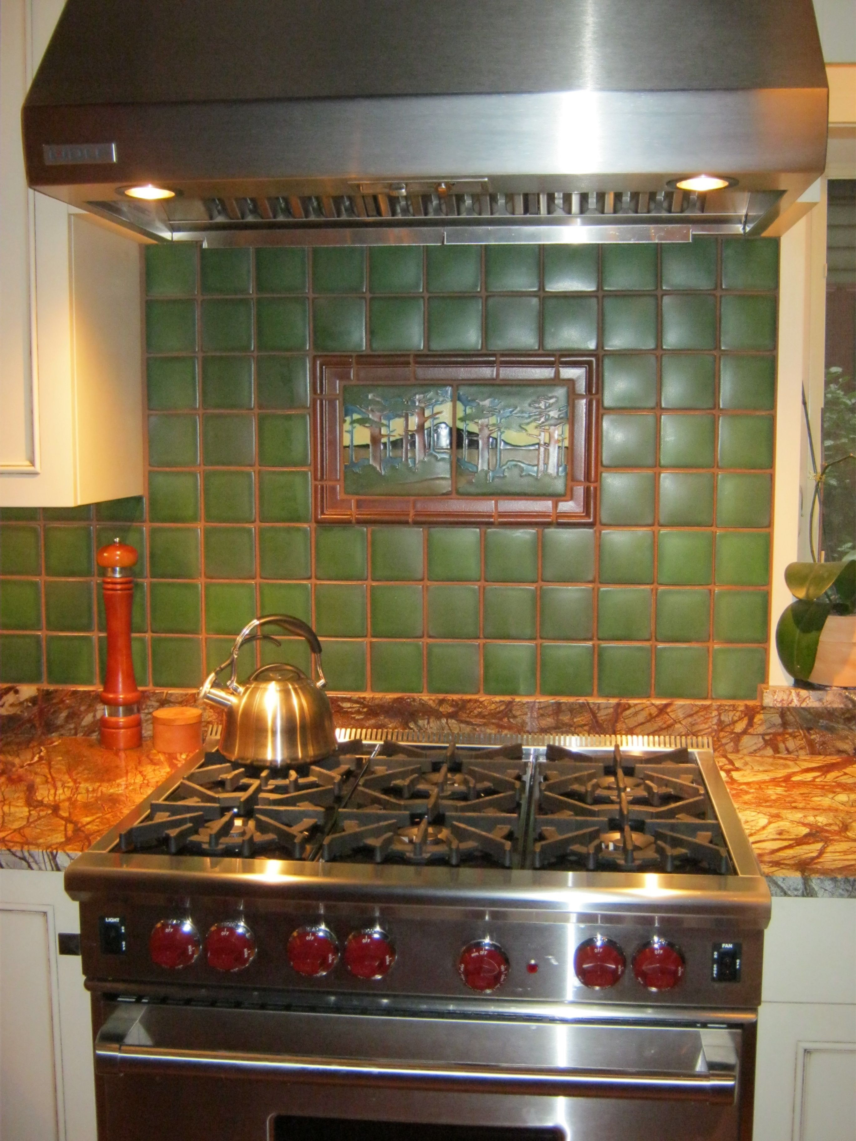 Retro Kitchen Backsplash Motawi Backsplash Tile At Ceramiche Tile And Stone For