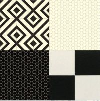 Cushion Floor Vinyl Black White Design Sheet Lino Kitchen ...