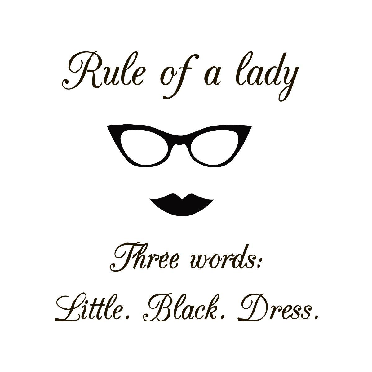 Little black dress quote