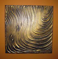 Original Modern Wall Art Abstract Contemporary Gold Black ...