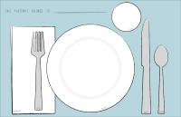 Teach kids to set a table. | Free Printables | Pinterest ...