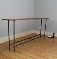 DIY industrial pipe console table on Mr. and Mr. Blandings ...