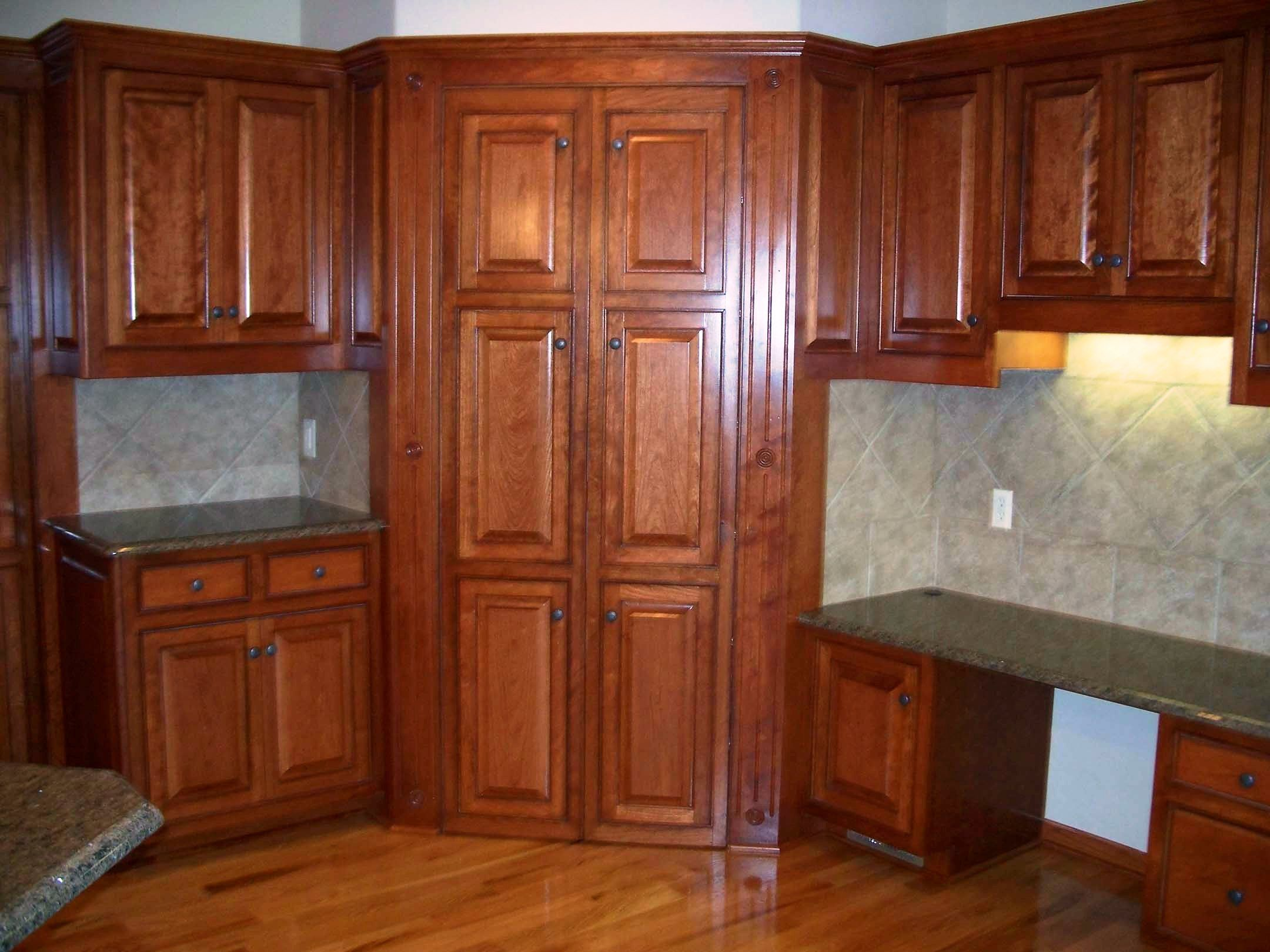 Small kitchen remodels tall corner cabinet pantry