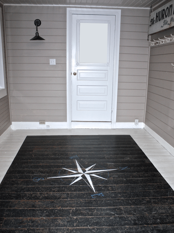 How To Paint A Floor Compass Rustic Crafts