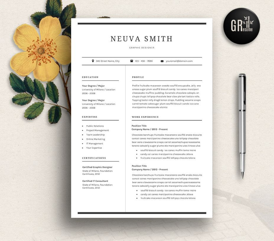Civil Engineer Resume Template Word, PSD and inDesign Format - formatting resume in word