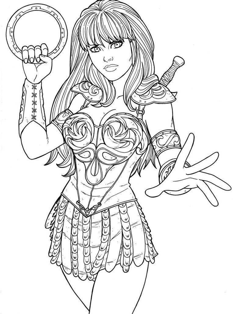 Xena warrior princess coloring pages_177063 jpg 774 1031